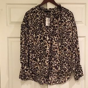 SANCTUARY Leopard Print Blouse L